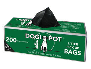 Dogipot Litter Bags- Purchase By Single Roll Or Cases Of 10, 20 Or 30 (200 Bags Per Roll)
